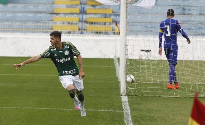 Gabriel Leite marcou o gol do Verdão. (Divulgação PMSJC)