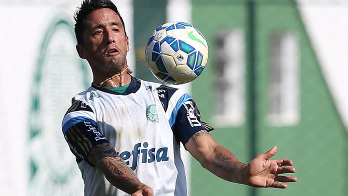 Barrios foi um dos testes do técnico Marcelo Oliveira. (Cesar Greco/Ag.Palmeiras/Divulgação)