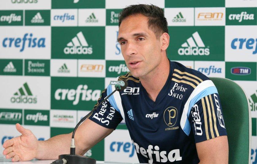 Após vitória sobre o Cruzeiro, Fernando Prass falou na Academia de Futebol. (Cesar Greco/Ag. Palmeiras/Divulgação)