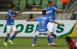 Em jogo disputado, Palmeiras bate Cruzeiro e garante vantagem. (Cesar Greco/Ag.Palmeiras/Divulgação)