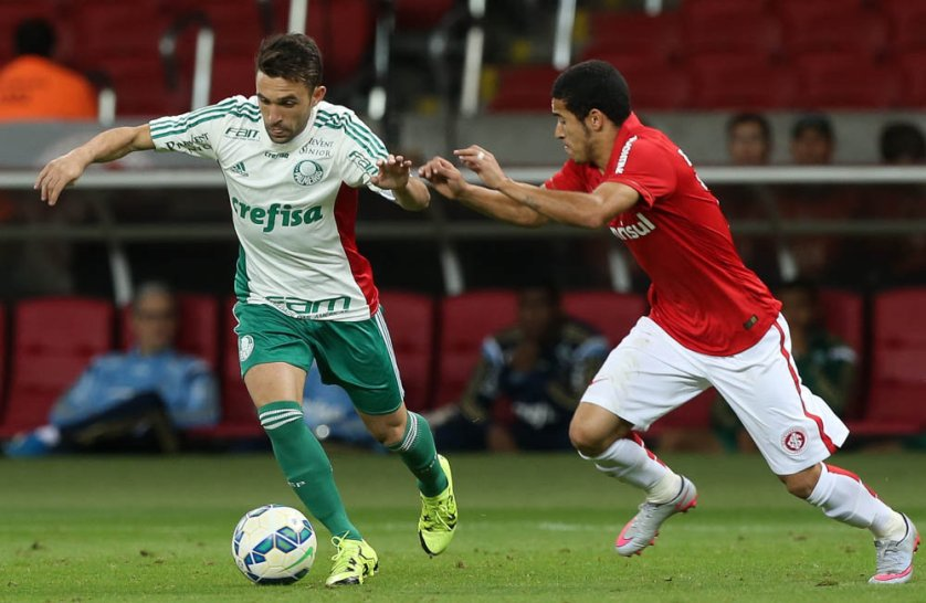 Allione entrou na segunda etapa contra o Inter e se movimentou bem no ataque do Verdão. (Cesar Greco/Ag.Palmeiras/Divulgação)