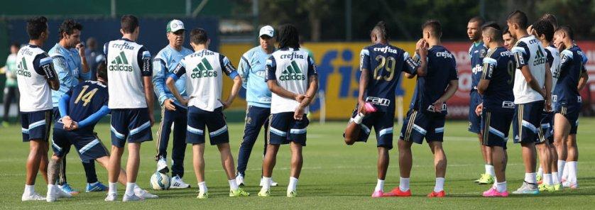 Arouca e o paraguaio Barrios estão de volta à lista dos relacionados. (Cesar Greco/Ag. Palmeiras/Divulgação)