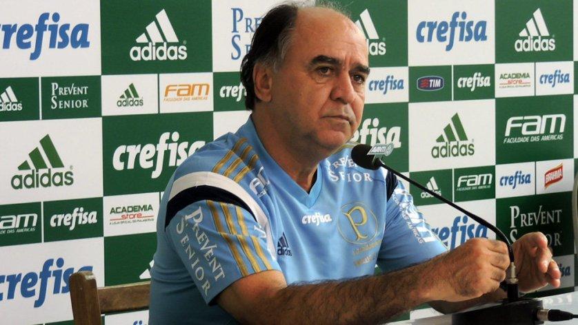 Marcelo Oliveira concedeu entrevista coletiva na tarde desta sexta (06) na Academia de Futebol. (Mídia Palmeirense)