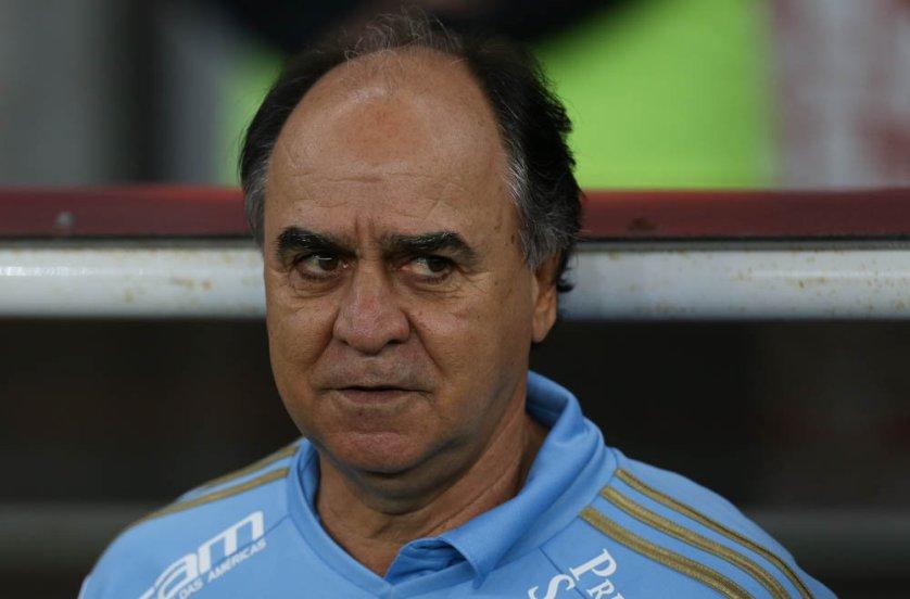 Marcelo Oliveira não ficou satisfeito com o desempenho do Palmeiras no jogo desta quarta-feira (09). (Cesar Greco/Ag. Palmeiras/Divulgação)