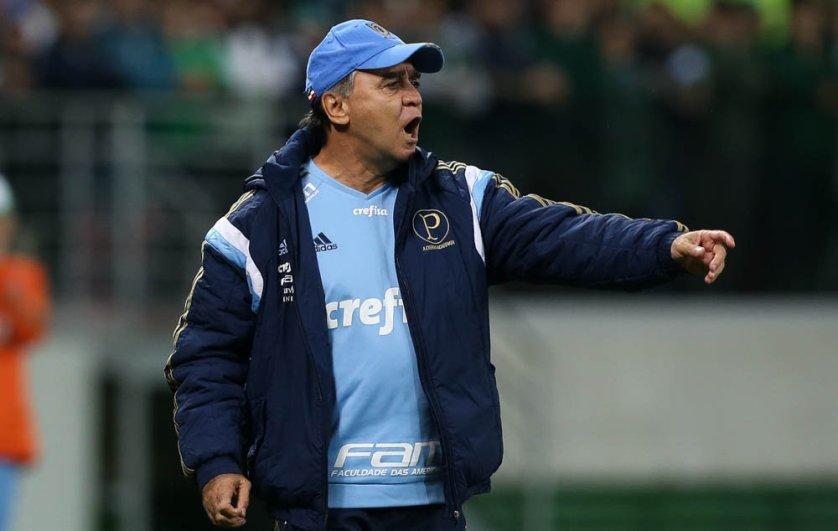 Marcelo Oliveira comandou o Verdão em mais uma vitória no Allianz Parque. (Cesar Greco/Ag.Palmeiras/Divulgação)