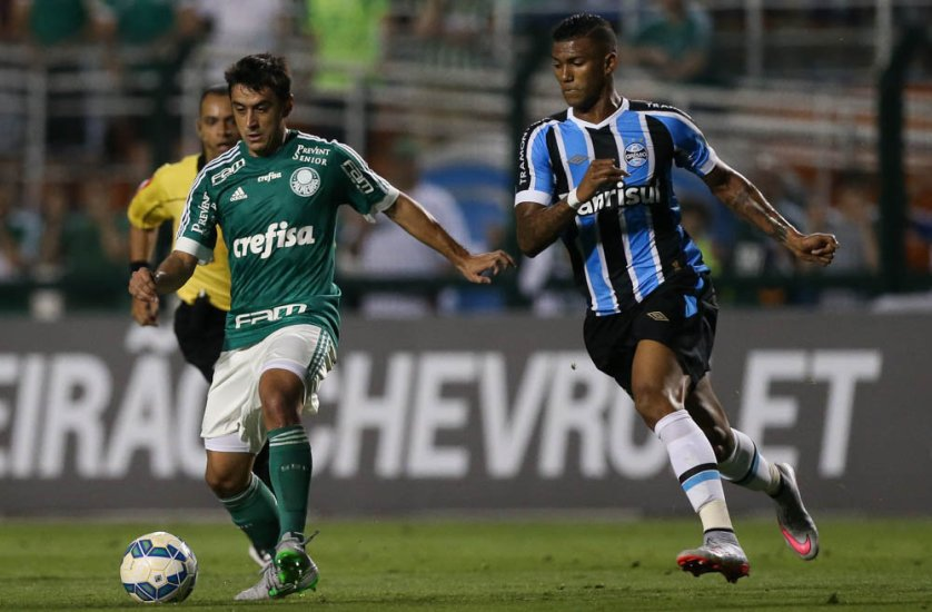 Robinho foi bem na vitória deste sábado (19), contra o Grêmio. (Cesar Greco/Ag. Palmeiras/Divulgação)