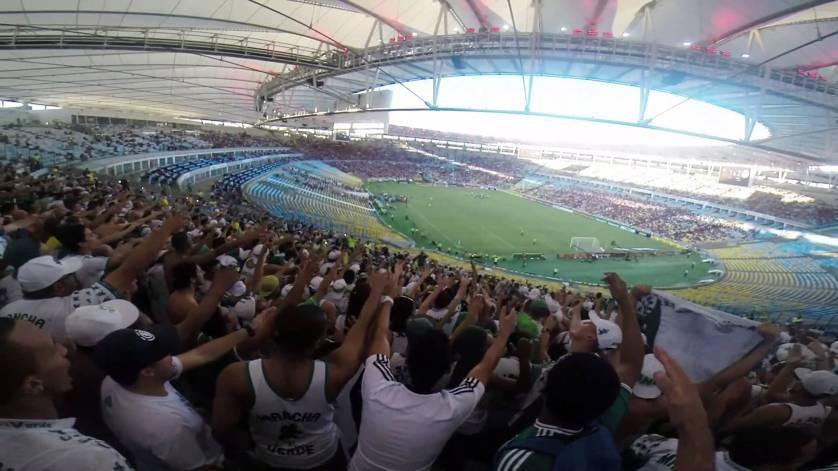 Torcedores do Palmeiras estarão em grande número para apoiar o time no Maracanã. (Youtube/Reprodução)