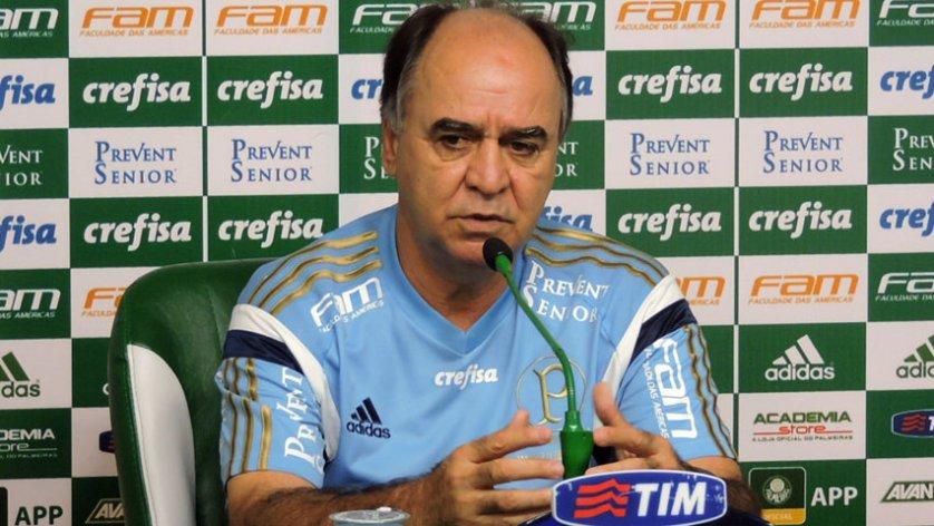 Marcelo Oliveira concedeu entrevista coletiva na Academia de Futebol nesta sexta (9). (Mídia Palmeirense)