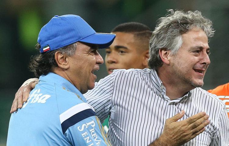 Marcelo Oliveira ficou satisfeito com o espírito de luta apresentado por sua equipe. (Cesar Greco/Ag. Palmeiras/Divulgação)