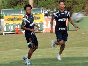 Zé Roberto e Lucas Barrios estão a disposição para serem relacionado contra o Fluminense. (Mídia Palmeirense)
