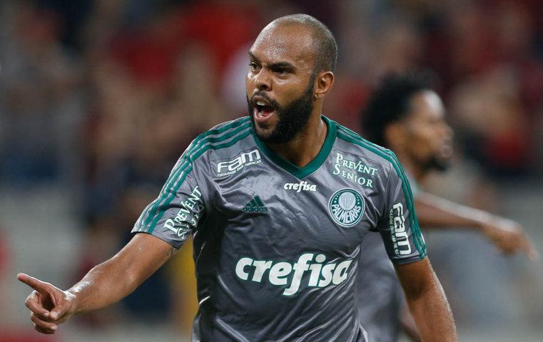 Alecsandro anotou gol de empate contra Atlético aos 49 do segundo tempo. (Cesar Greco/Ag.Palmeiras/Divulgação)