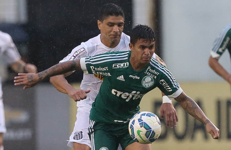 Dudu foi autor do gol alviverde e um dos destaques da partida. (Cesar Greco/Ag. Palmeiras/Divulgação)