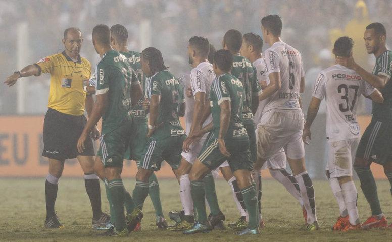 Santos e Palmeiras fizeram jogo disputado na primeira final da Copa do Brasil. (Cesar Greco/Ag.Palmeiras/Divulgação)