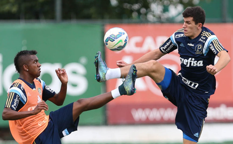 Nathan pode ser titular neste sábado (21) contra o Cruzeiro. (Cesar Greco/Ag.Palmeiras/Divulgação)
