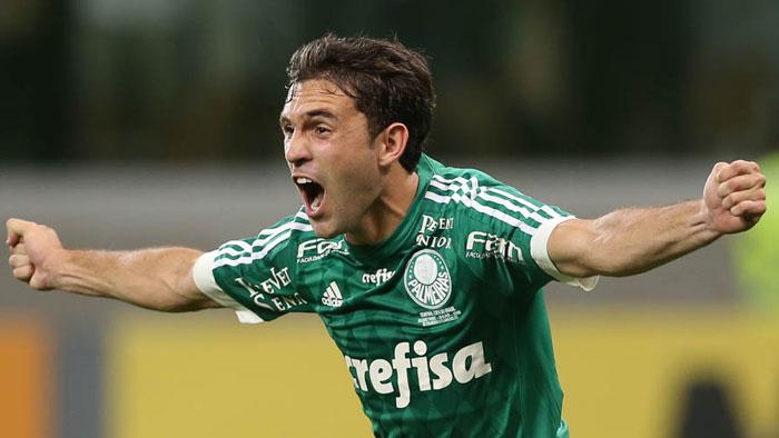 Allione entrou no segundo tempo e fez o primeiro gol do Verdão. (Cesar Greco/Ag. Palmeiras/Divulgação)