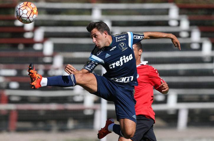Allione anotou primeiro gol do Verdão na temporada 2016 nesta quarta-feira (20). (Cesar Greco/Ag.Palmeiras/Divulgação)