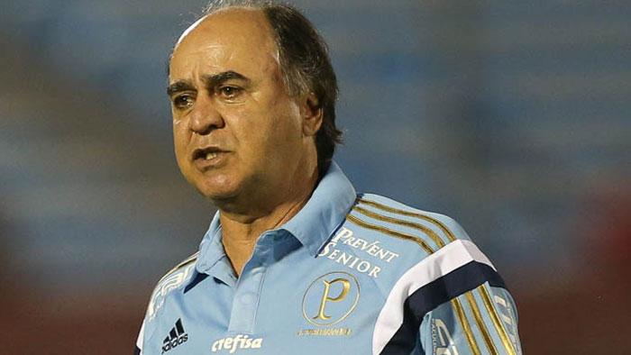 Marcelo Oliveira encarou primeiro duelo internacional no comando do Palmeiras. (Cesar Greco/Ag.Palmeiras/Divulgação)