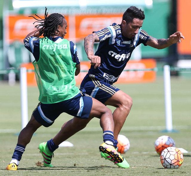 Poupados contra o Linense, Barrios e Arouca foram relacionados para a estreia na Libertadores. (Cesar Greco/Ag. Palmeiras/Divulgação)