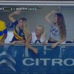 Patrocínio da montadora Citroen aparece na transmissão de Boca x Wanderers. (Reprodução/FoxSports)