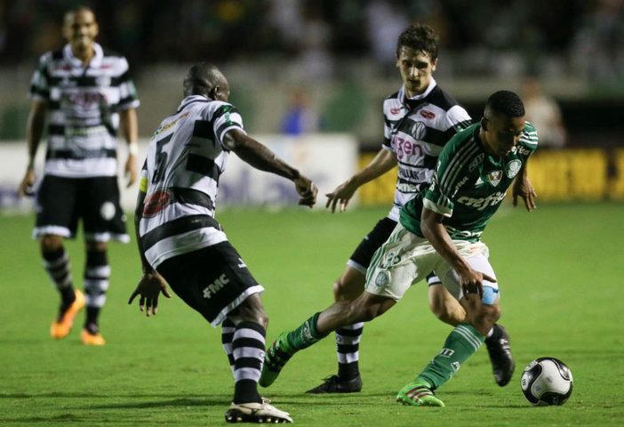 Gabriel Jesus marcou duas vezes contra o XV de Piracicaba. (Cesar Greco/Ag.Palmeiras/Divulgação)