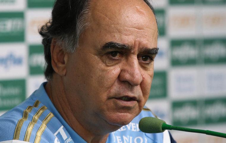 Marcelo Oliveira concedeu entrevista coletiva na tarde desta quarta (03) na Academia de Futebol. (Cesar Greco/Ag.Palmeiras/Divulgação)