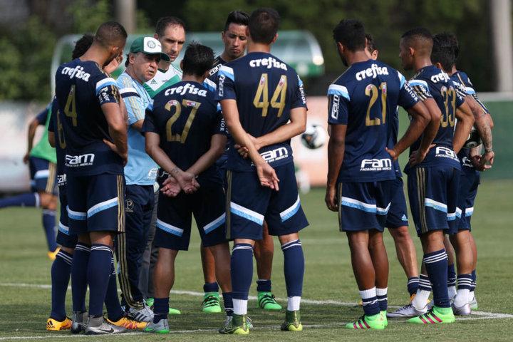 Marcelo Oliveira convocou 22 jogadores para o confronto e as novidades foram Lucas Barrios e Rafael Marques. (Cesar Greco/Ag.Palmeiras/Divulgação)