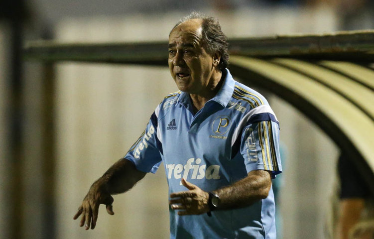 Marcelo Oliveira celebrou a competitividade e organização da equipe na partida contra o XV. (Cesar Greco/Ag. Palmeiras/Divulgação)
