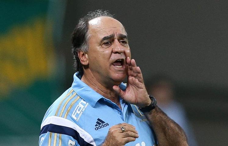 Marcelo Oliveira se mostrou insatisfeito com atuação do time neste domingo (28). (Cesar Greco/Ag.Palmeiras/Divulgação)