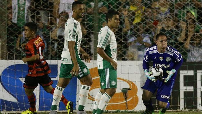 Apesar de muita pressão alviverde, a partida terminou empatada em 0 a 0. (Cesar Greco/Ag. Palmeiras/Divulgação)