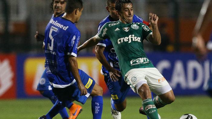 Robinho destacou o comprometimento da equipe, que lutou até o fim. (Cesar Greco/Ag.Palmeiras/Divulgação)