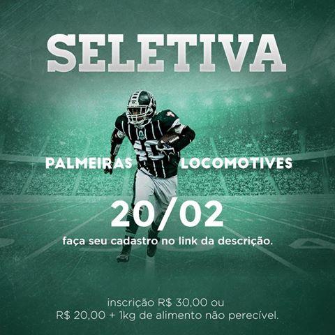 Os interessados em participar da seletiva para integrar a equipe do Palmeiras Locomotives devem se inscrever pela internet. (Divulgação)