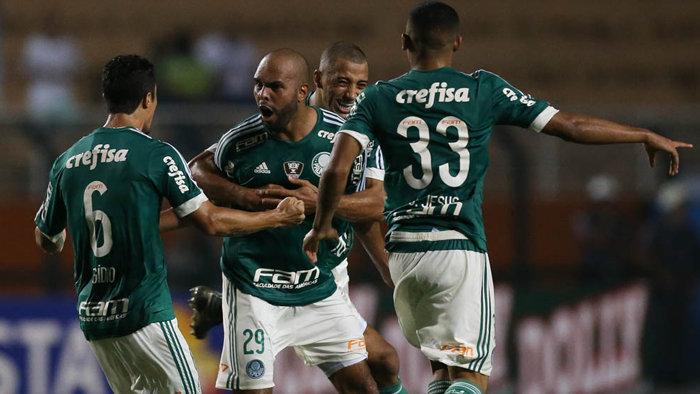Em ótima jogada individual, Gabriel Jesus anotou o segundo gol do Verdão diante do Rio Claro. (Cesar Greco/Ag.Palmeiras/Divulgação)