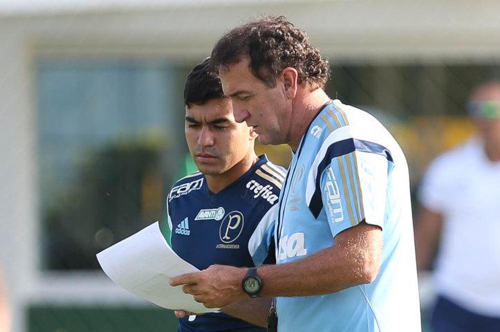 Técnico Cuca fez atividade preparatória para confronto com o Red Bull Brasil. (Cesar Greco/Ag Palmeiras/Divulgação)