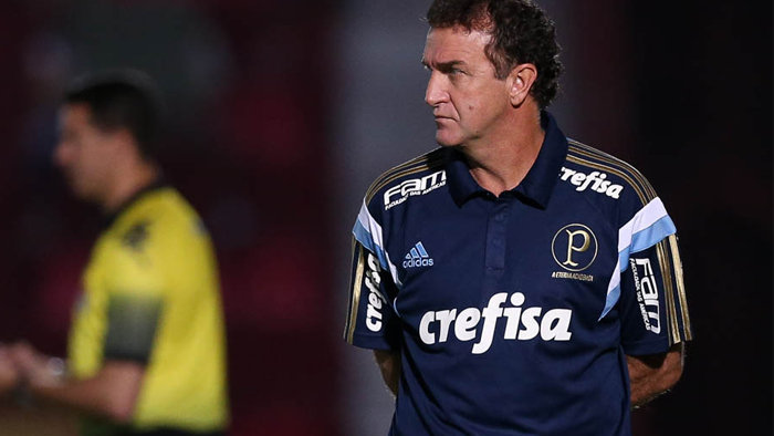 Técnico Cuca cobrou equipe palestrina após revés diante do Audax. (Cesar Greco/Ag.Palmeiras/Divulgação)