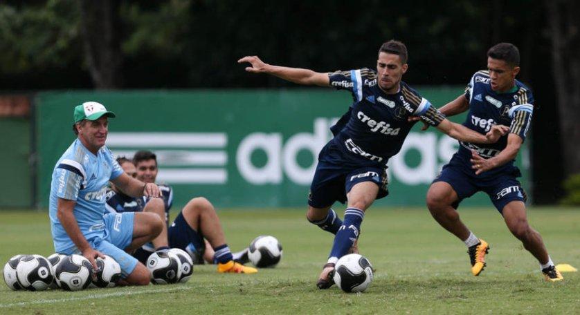 O volante Gabriel e o atacante Erik estão entre os jogadores relacionados para o duelo contra o Red Bull. (Cesar Greco/Ag. Palmeiras/Divulgação)