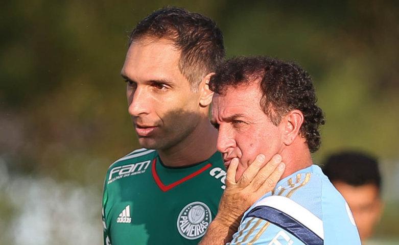 Palmeiras realizou trabalhos em Atibaia na tarde desta terça-feira (29), sob comando do técnico Cuca. (Cesar Greco/Ag.Palmeiras/Divulgação)
