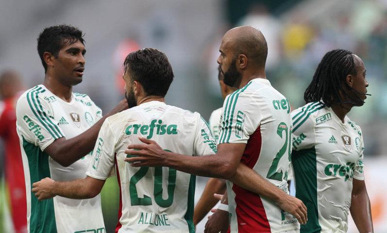Jogadores esperam continuar a boa fase e buscam emplacar uma sequência de resultados positivos. (Cesar Greco/Ag. Palmeiras/Divulgação)