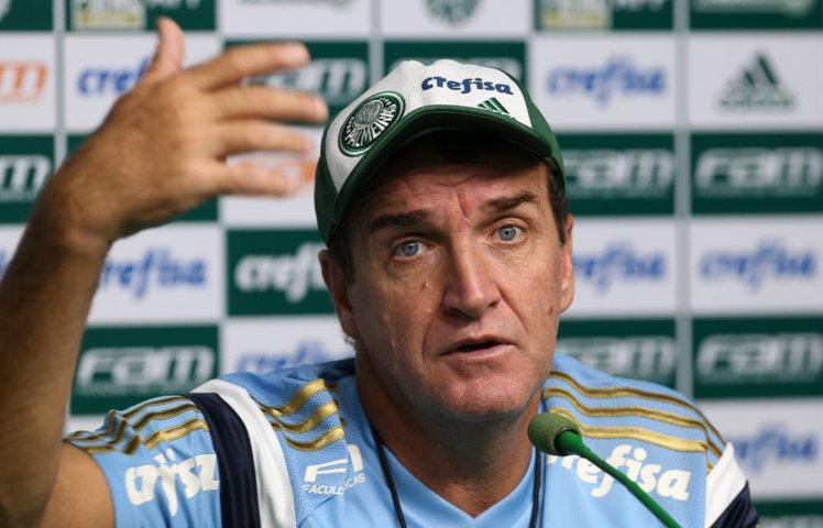Cuca concedeu entrevista coletiva na Academia de Futebol nesta sexta (08). (Cesar Greco/Ag.Palmeiras/Divulgação)