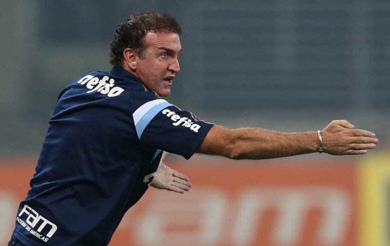 Cuca alcançou sexto jogo de invencibilidade à frente do Palmeiras. (Cesar Greco/Ag.Palmeiras/Divulgação)