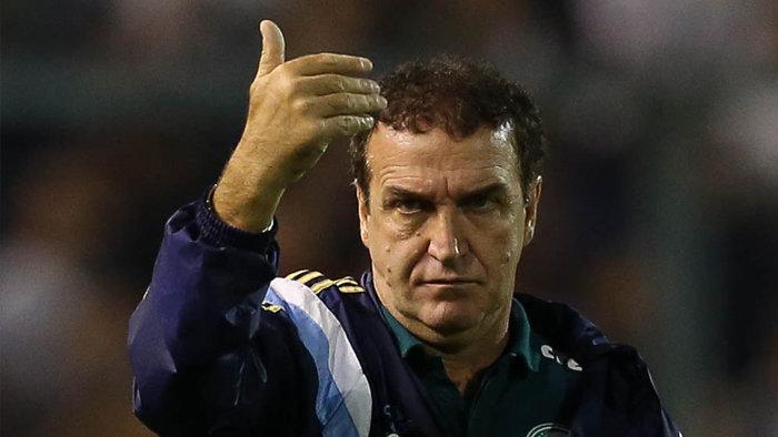 Cuca ficou satisfeito com o rendimento dos jogadores alviverdes contra o Rosario. (Cesar Greco/Ag. Palmeiras/Divulgação)