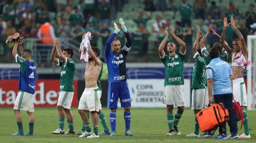 Mesmo fazendo sua parte, o Verdão não conseguiu a passagem às oitavas de final da Copa Libertadores 2016. (Cesar Greco/Ag.Palmeiras/Divulgação)