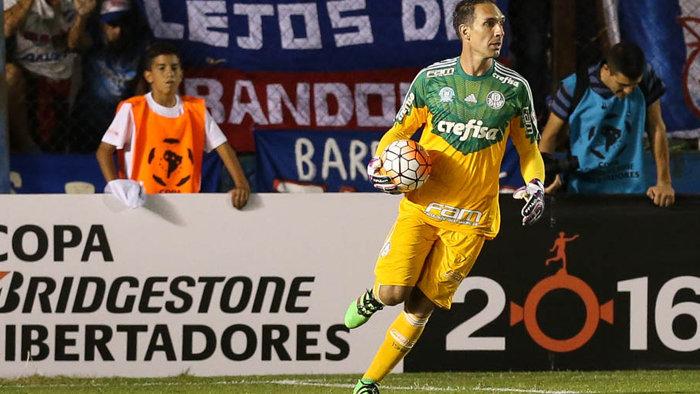 Fernando Prass demonstrou confiança na passagem à próxima fase. (Cesar Greco/Ag.Palmeiras/Divulgação)