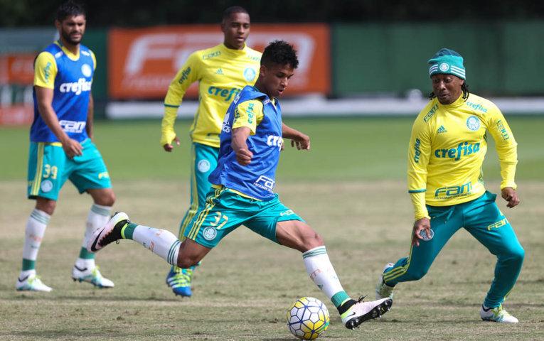 O Palmeiras se reapresentou na tarde desta segunda-feira (30), na Academia de Futebol. (Cesar Greco/Ag.Palmeiras/Divulgação)
