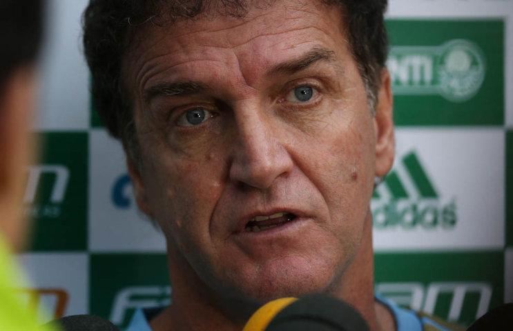 Cuca concedeu entrevista coletiva no Allianz Parque nesta sexta (13). (Cesar Greco/Ag.Palmeiras/Divulgação)