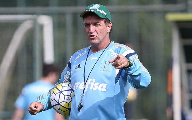 Cuca promoveu treino técnico na Academia de Futebol. (Cesar Greco/Ag Palmeiras/Divulgação)