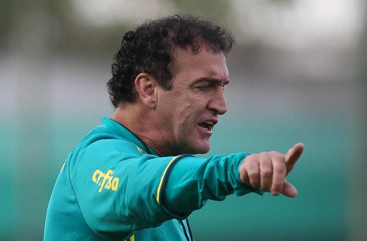 O técnico Cuca aproveitou para fazer diversos testes na equipe, nesta quinta-feira (25). (Cesar Greco/Ag.Palmeiras/Divulgação)