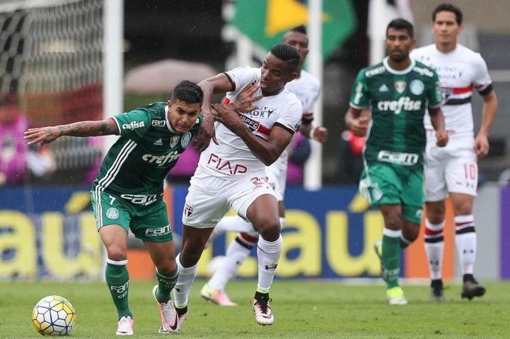 Dudu lamentou as chances perdidas no início do jogo. (Cesar Greco/Ag Palmeiras/Divulgação)