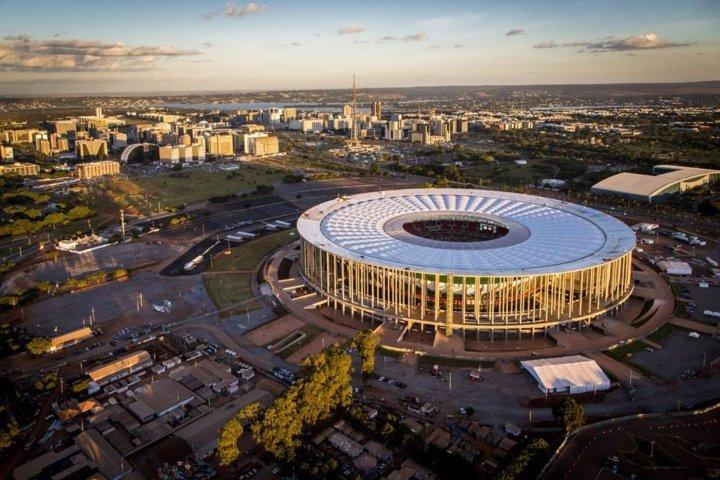 Com mando do Flamengo, Palmeiras jogará pela primeira vez no Mané Garrincha, em Brasília-DF. (Divulgação)