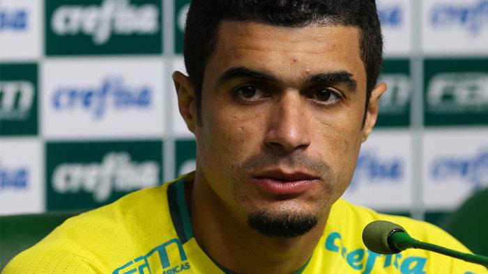 Lateral-esquerdo Egídio soma 56 partidas com a camisa do Palmeiras. (Cesar Greco/Ag.Palmeiras/Divulgação)