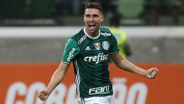 Moisés abriu a goleada aos sete minutos do primeiro tempo. (Cesar Greco/Ag. Palmeiras/Divulgação)